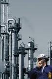 Ingenieur en de olieindustrie Royalty-vrije Stock Foto's