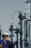 Ingenieur en de olieindustrie Stock Fotografie