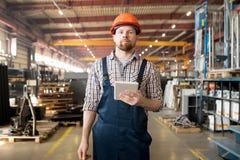 Ingenieur in fabriek royalty-vrije stock foto