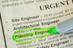 Ingenieur gewünscht lizenzfreie stockbilder