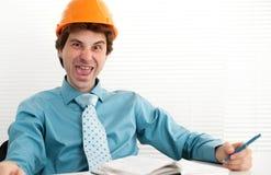 Ingenieur in het bureau royalty-vrije stock fotografie