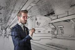 Ingenieur het ontwerpen Royalty-vrije Stock Fotografie