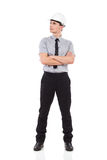 Ingenieur im weißen Hardhat Stockbilder