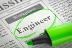 Ingenieur Job Vacancy 3d stockfoto