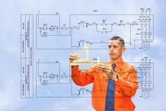 Ingenieur-Konzipieren stockbilder