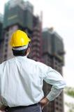 Ingenieur-Manager mit Konzeptfunktion Stockfoto