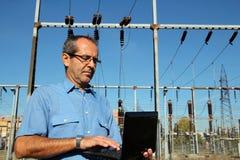 Ingenieur met Laptop Computer Royalty-vrije Stock Foto