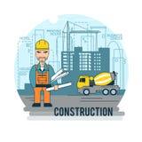 Ingenieur op het werk stock illustratie