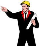 Ingenieur op het werk royalty-vrije illustratie