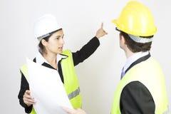 Ingenieur und Klient auf Site Stockbild