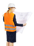 Ingenieur Woman Royalty-vrije Stock Afbeeldingen