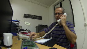 Ingenieur Working At Office stock video footage