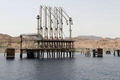 Ingenieurbauwerk des Ölhafens, Israel Stockfotografie