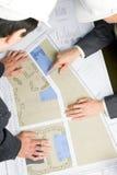 Ingenieure bei der Arbeit Stockfoto