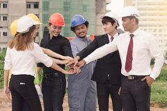 Ingenieurkonzept Teamwork lizenzfreie stockbilder