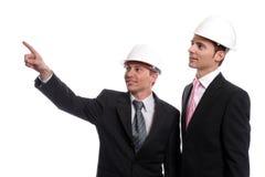 Ingenieurs die nieuw project bespreken royalty-vrije stock foto