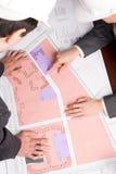 Ingenieurs op het werk royalty-vrije stock afbeeldingen