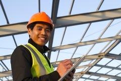 Ingenieursbouw in het kader van nieuw de bouw het controleren plan Stock Afbeelding