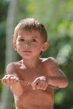 Ingenio del muchacho una ramificación Foto de archivo