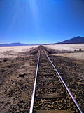 ingenstans järnväg till Arkivfoto