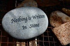 Ingenting är skriftligt i sten Arkivfoto