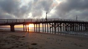 Ingenting som är bättre än en molnig soluppgång Fotografering för Bildbyråer