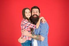 Ingenting utom familj Lycklig liten flicka med fadern litet barn att ?lska hennes farsa Denna ?r mappen av formatet EPS10 Barns d royaltyfria bilder