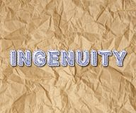 Ingenuity Crumpled Paper Royalty Free Stock Photography