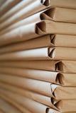 Ingepakt document, verticaal stock foto