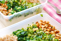Ingepakte maaltijddozen van groenten Royalty-vrije Stock Fotografie