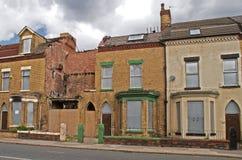 Ingescheept op huizen in Liverpool Royalty-vrije Stock Foto