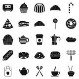 Ingestion icons set, simple style. Ingestion icons set. Simple set of 25 ingestion vector icons for web isolated on white background Royalty Free Stock Photography