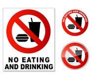 Inget äta och dricka Royaltyfria Bilder