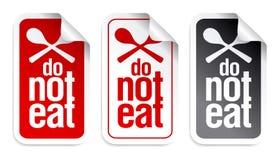 Inget ätatecken. Royaltyfri Fotografi