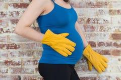 Inget ansträngande arbete, medan gravid Arkivbilder