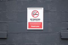 Inget - att röka eller e-cigaretter lät tecknet på arbetsplatsen royaltyfri foto