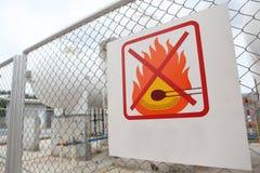 Inget avfyrar undertecknar Royaltyfri Foto