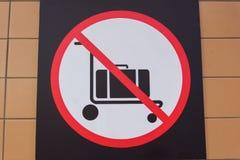 Inget bagage royaltyfria bilder