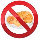 Inget bröd - fri symbolsillustration för gluten Royaltyfri Foto