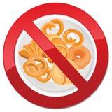 Inget bröd - fri symbolsillustration för gluten Royaltyfri Bild