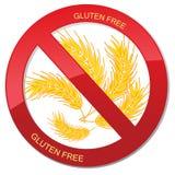 Inget bröd - fri symbolsillustration för gluten Royaltyfri Fotografi
