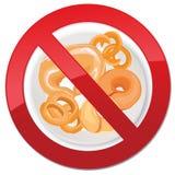 Inget bröd - fri symbolsillustration för gluten Arkivfoto