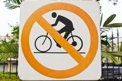 Inget cykeltecken. Arkivfoton