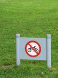Inget cykeltecken Royaltyfria Foton