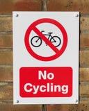 Inget cykla Arkivbilder