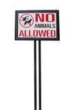 Inget djurt tillåtet tecken Royaltyfri Foto