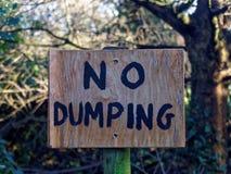 Inget dumpa undertecknar Royaltyfri Bild