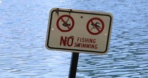 Inget fiske inget simma tecken arkivfilmer