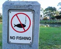 Inget fiske undertecknar royaltyfri bild