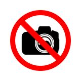 inget fotografitecken vektor illustrationer